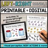 Left Right Discrimination DIGITAL + PRINTABLE Activities Bundle!