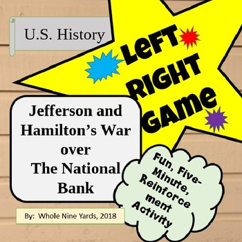 Left Right Game  Hamilton and Jefferson's Fight over the National Bank