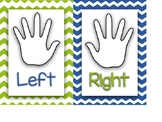 Left & Right Hand Posters {Blue & Lime Green}
