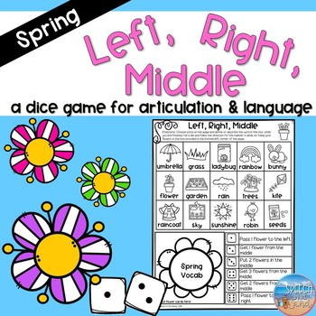 Left, Right, Middle: Spring Edition- A Dice Game for Articulation & Language