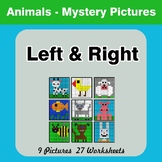 Left & Right side - Color by Emoji - Mystery Pictures - Animals