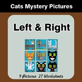 Left & Right side - Color by Emoji - Mystery Pictures - Cats