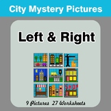 Left & Right side - Color by Emoji - Mystery Pictures - City
