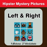 Left & Right side - Color by Emoji - Mystery Pictures - Hipsters