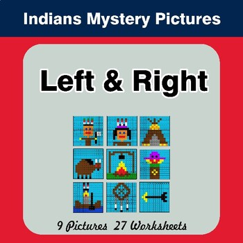 Left & Right side - Color by Emoji - Mystery Pictures - Indians