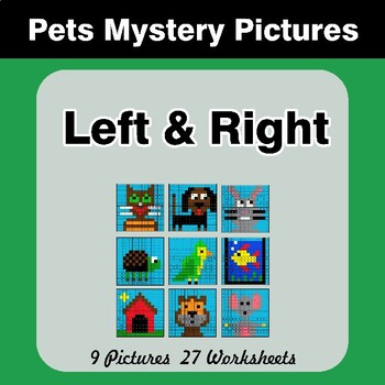 Left & Right side - Color by Emoji - Mystery Pictures - Pets
