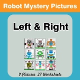 Left & Right side - Color by Emoji - Mystery Pictures - Robots