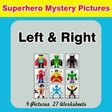Left & Right side - Color by Emoji - Mystery Pictures - Superhero