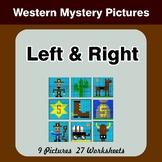 Left & Right side - Color by Emoji - Mystery Pictures - Western