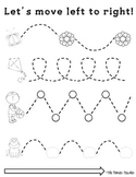Left To Right Tracing Worksheets {Fine Motor Skills}