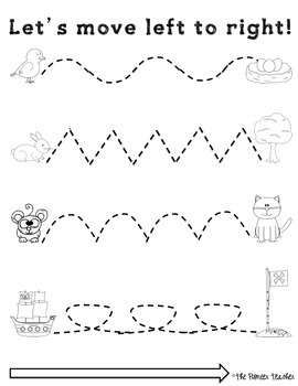 Left To Right Tracing Worksheets Fine Motor Skills 2059471 on History Worksheets For Kindergarten