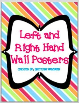 Left and Right Hand Wall Posters