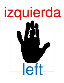 Left and Right Hands (English and Spanish)
