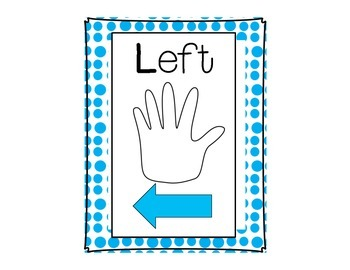 Left and Right Mini Poster/Label Freebie (Classroom Decoration Printable)