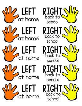 """""""Left at Home"""" & Money Pouch Take-Home Folder Labels"""