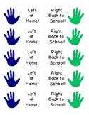 Left at Home ~ Right Back to School Folder Labels