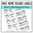 Left at Home & Right Back to School - Take Home Folder Labels