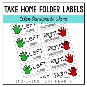 Left at Home & Right Back to School - Take Home Folder Labels IN COLOR