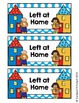 Left at Home/Right Back to School Labels for Homework Folders