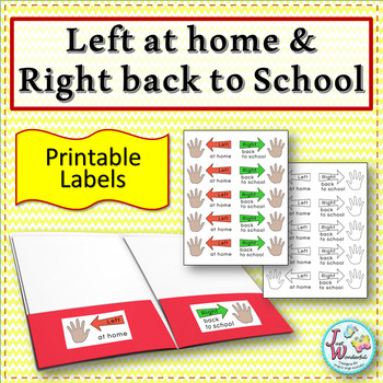 Swell Left At Home Right Back To School Labels For Take Home Folders Hands Home Interior And Landscaping Ymoonbapapsignezvosmurscom