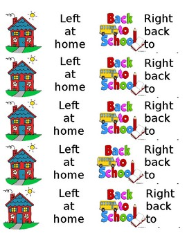 Miraculous Left At Home Right Back To School Labels Home Interior And Landscaping Ymoonbapapsignezvosmurscom