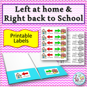Left at home Right back to school Labels for Take Home Folder Labels BUILDINGS