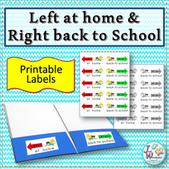 Left at home Right back to school Labels for Take Home Folder Labels SUPERHERO