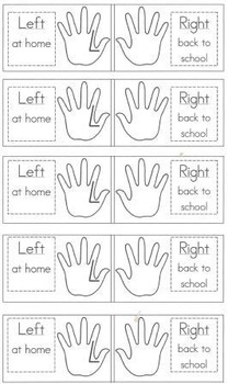 Left at home & Right back to school - Take home folder labels (no photo)