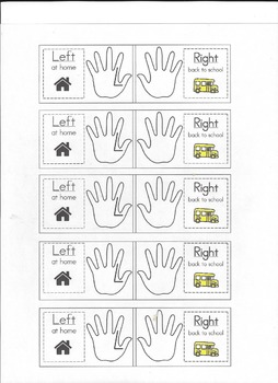 Left at home & Right back to school - Take home folder labels with pictures