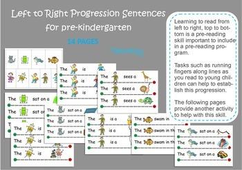 Left to Right Progression Pre-reading Skill