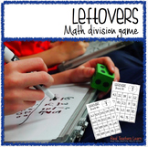"""""""Leftovers"""" Math Division Game- Common Core Aligned"""