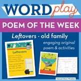 Leftovers  -old Word Family Poem of the Week - Long O Fluency Poem