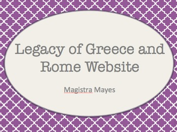 Legacy of Greece and Rome Website