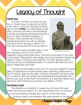 Legacy of Thought Socratic Seminar Lesson Plan