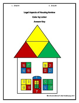 Legal Aspects of Housing: Color by Letter Review