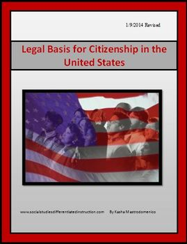 Legal Basis for Citizenship in the United States PowerPoin