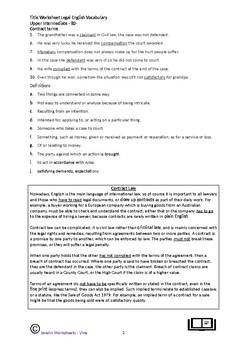 Legal English Vocabulary & Grammar