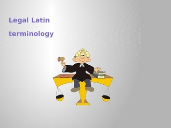 Legal Latin Terminology