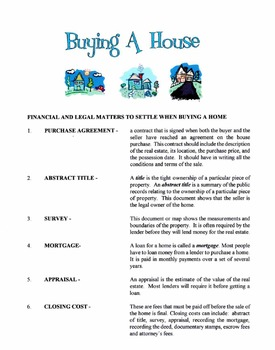 Legal Matters When Buying A Home Lesson