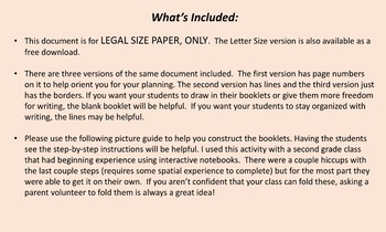 Legal-Size Blank 6 Page Foldable
