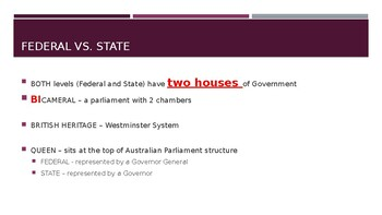 Legal Studies: Structure of Australian Government