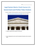 Legal System Basics: Crash Course U.S. Government and Politics Video Analysis