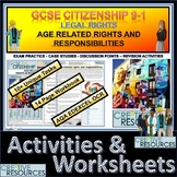 Legal rights - Age Related Rights and Responsibilities  Booklet of Student Activ