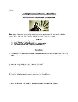 Legalization of MJ Video Worksheet