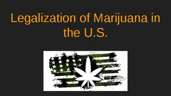 Legalization of Marijuana Powerpoint for Edu
