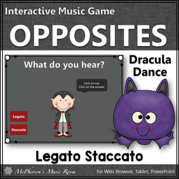 Legato or Staccato Interactive Music Game  (Dracula)