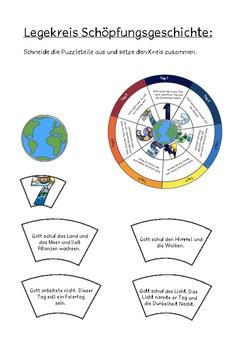 Legekreis Schöpfung Schülergröße - Days of Creation Puzzle Circle