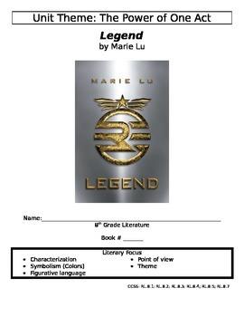 Legend by Marie Lu - Novel Packet