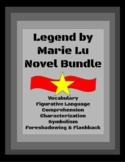 Legend by Marie Lu Novel Study Bundle of Worksheets, Quizz