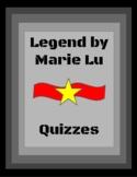 Legend by Marie Lu Quizzes
